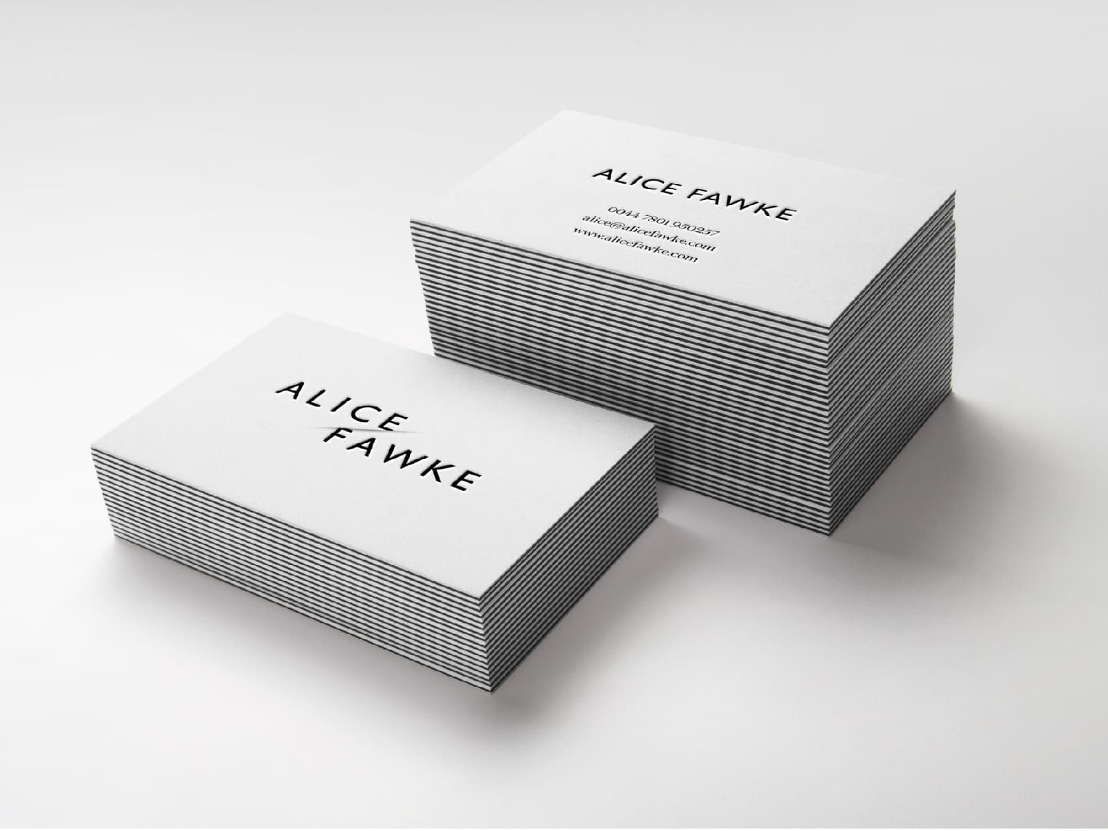 Alice Fawke — Business Cards