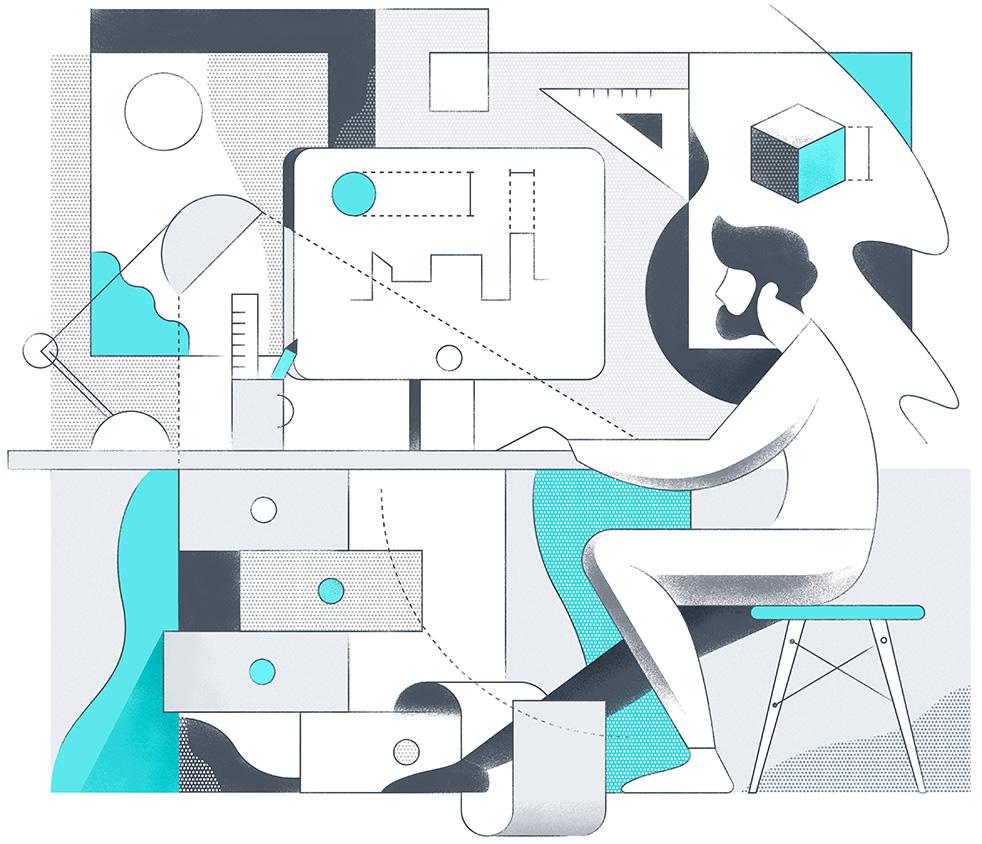 Archiporta - Working. Illustration by Matus
