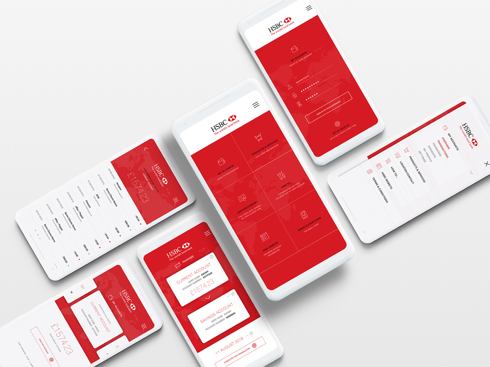 HSBC Business Banking App — Mockup