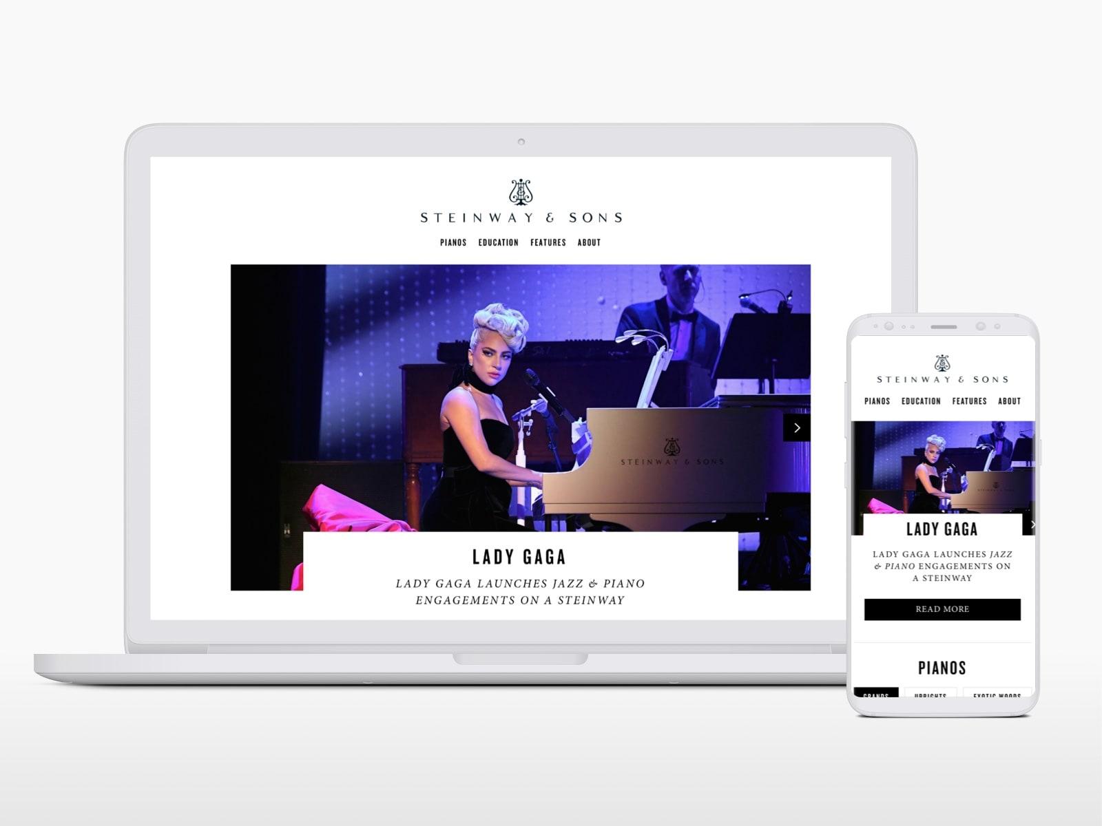Steinway & Sons (UK) —Website Design & Build